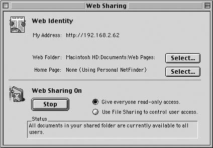 Рис. 2.22. Первый шаг по конфигурированию Web-сервера