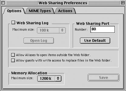 Рис. 2.24. Web-сервер сконфигурирован и готов к работе