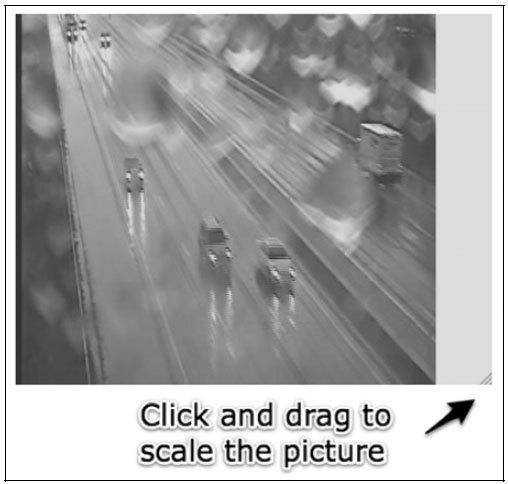 Рис. 3.5. С помощью мыши вы можете управлять размещением картинки и ее размером