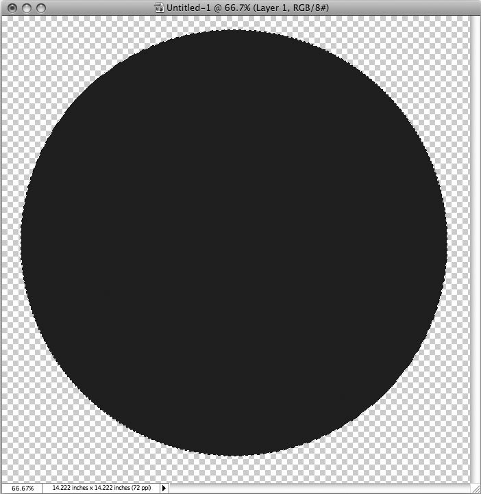 Рис. 5.40. У Малевича черный квадрат — ну, а мы создадим большой черный круг