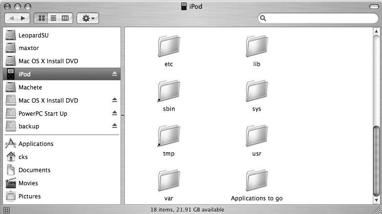 Рис. 7.1. Новая папка Applications to go