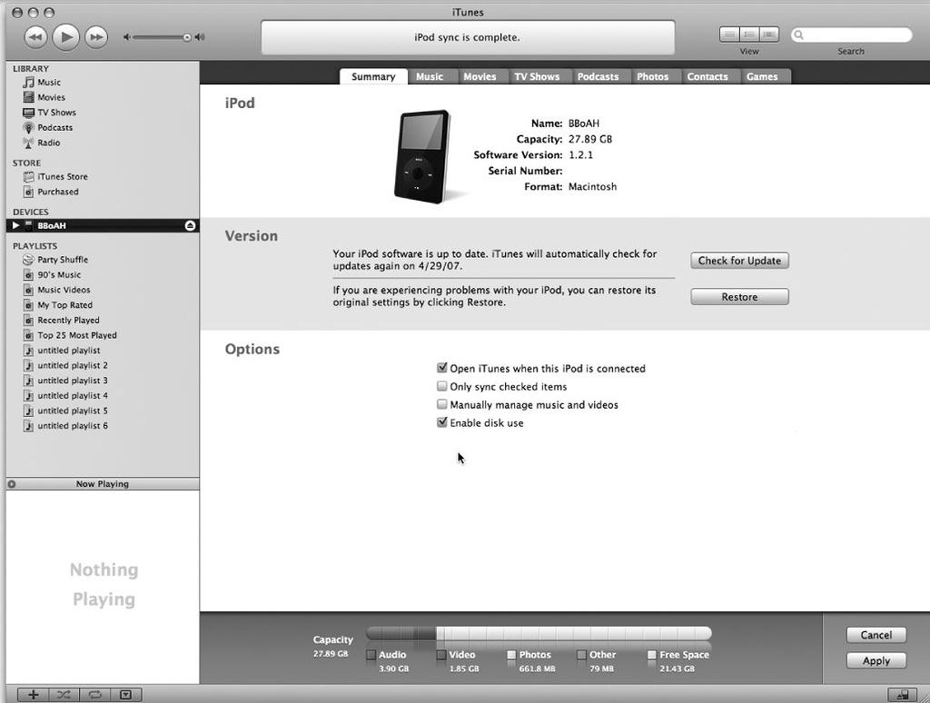 Рис. 7.3. Модификация фабричных настроек iPhone
