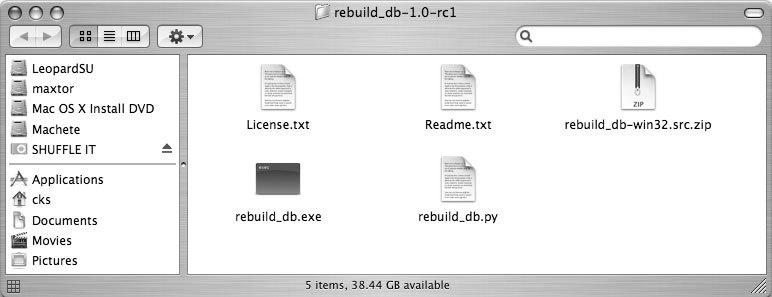 Рис. 7.16. В папке содержится множество файлов, но нам нужен только один
