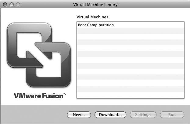 Рис. 8.5. Загрузка с раздела Boot Camp в VMware