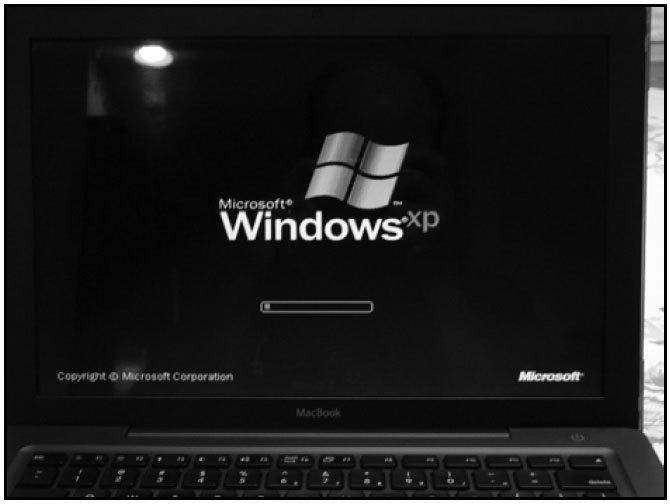 Рис. 8.20. Загрузка Mac с диска Windows