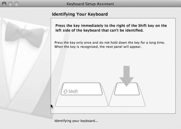 Рис. 8.25. Mac OS X распознает клавиатуру Windows