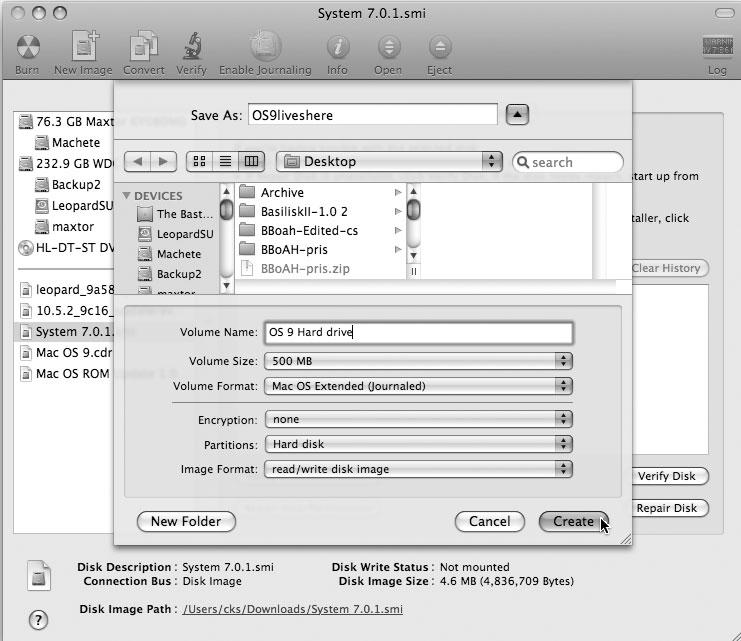 Рис. 8.36. Новый «дом» для Mac OS 9