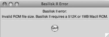 Рис. 8.37. Для работы с Basilisk вам потребуется более старый модуль ROM