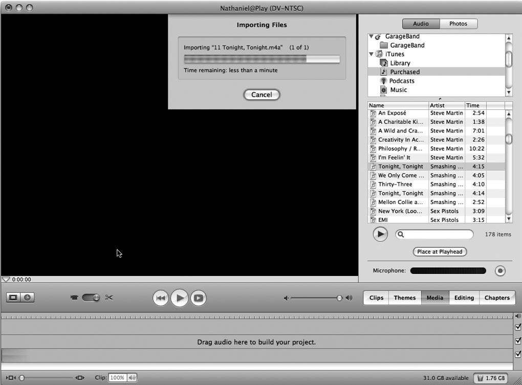 Рис. 9.3. iMovie — лучший друг хакера, желающего избавиться от DRM