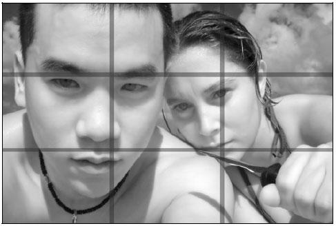 Рис. 9.54. Эрик Ченг с подругой. Обратите внимание на то, как располагаются глаза и губы — в соответствии с правилом третей