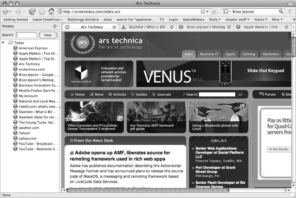 Рис. 2.1. Популярнейший Web-браузер Firefox