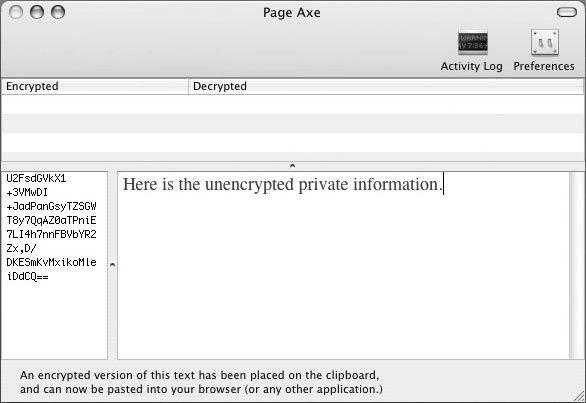 Рис. 2.37. Простой интерфейс для расшифровки текста