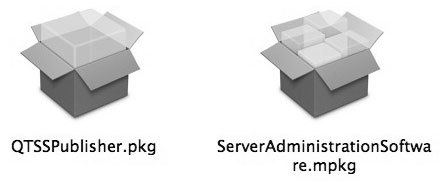 Рис. 3.15. Пакеты (packages) и метапакеты (metapackages), отображаемые в Finder