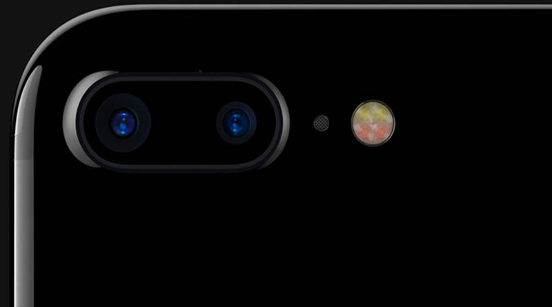 iPhone 7 Plus расположение 2х камер