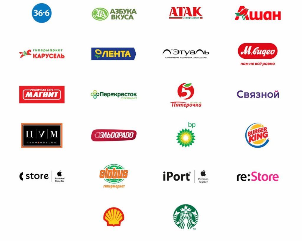 Торговые точки – партнеры Айфон