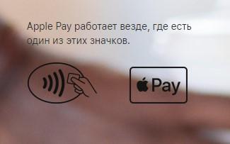 Значки, устанавливающиеся там, где принимают платеж Эпл Пэй