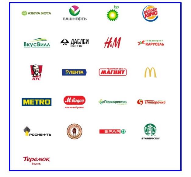 Фирмы – партнеры сервиса на территории России