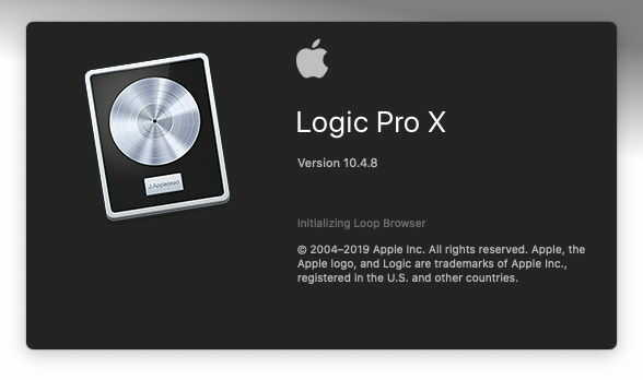 Окно запуска Logic Pro X